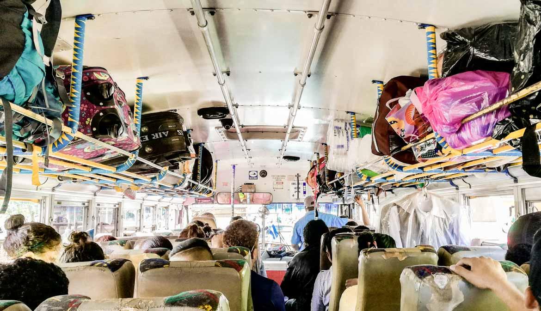 trasporti in Nicaragua chickenbus
