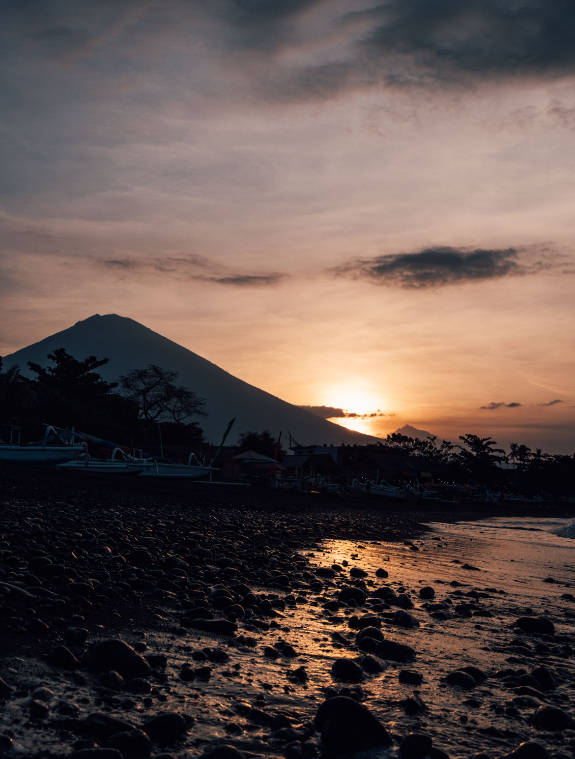 Tramonto ad Amed Bali