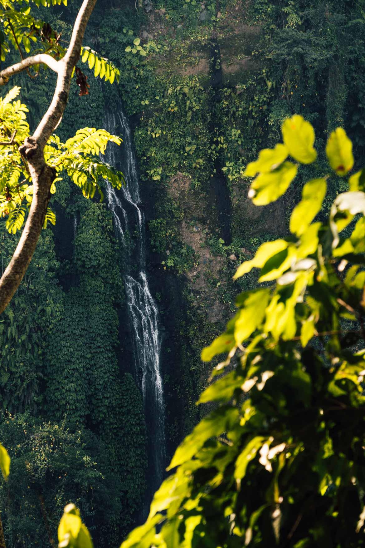 Panoramica cascata Sendang Gile