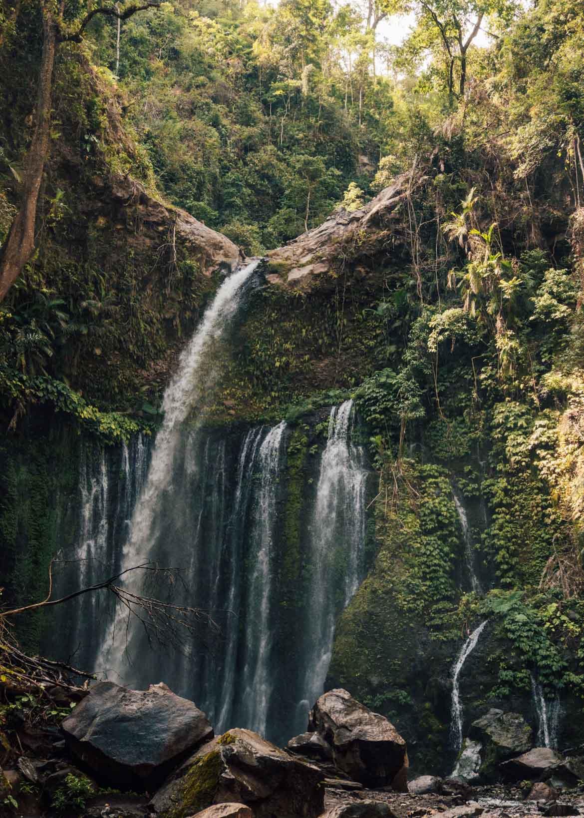 Panoramica della cascata Tiu Kelep