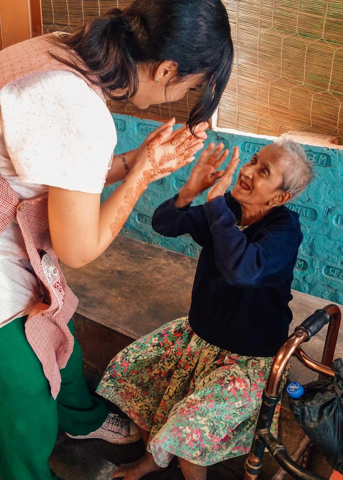 Una paziente a Prem Dan Calcutta