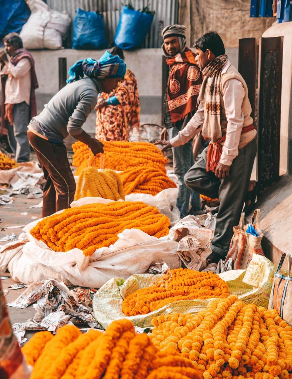 Calcutta luoghi di interesse Flower Market