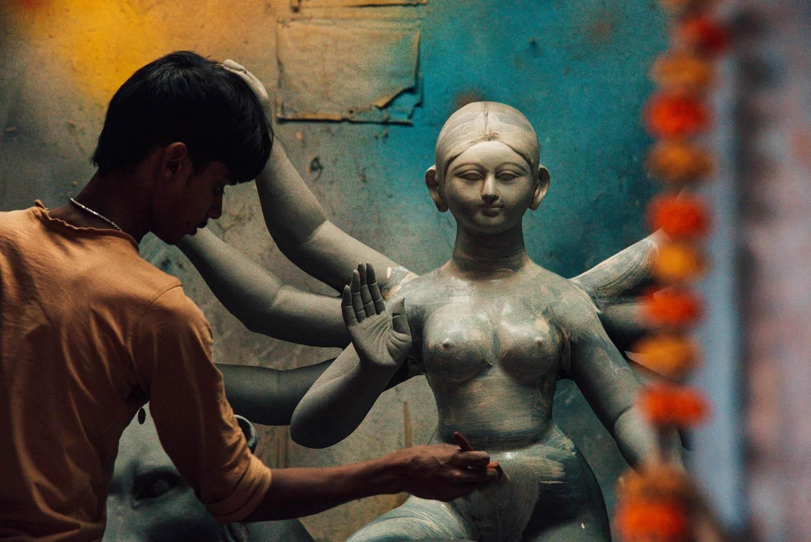 Artigiani Kumartuli a Calcutta