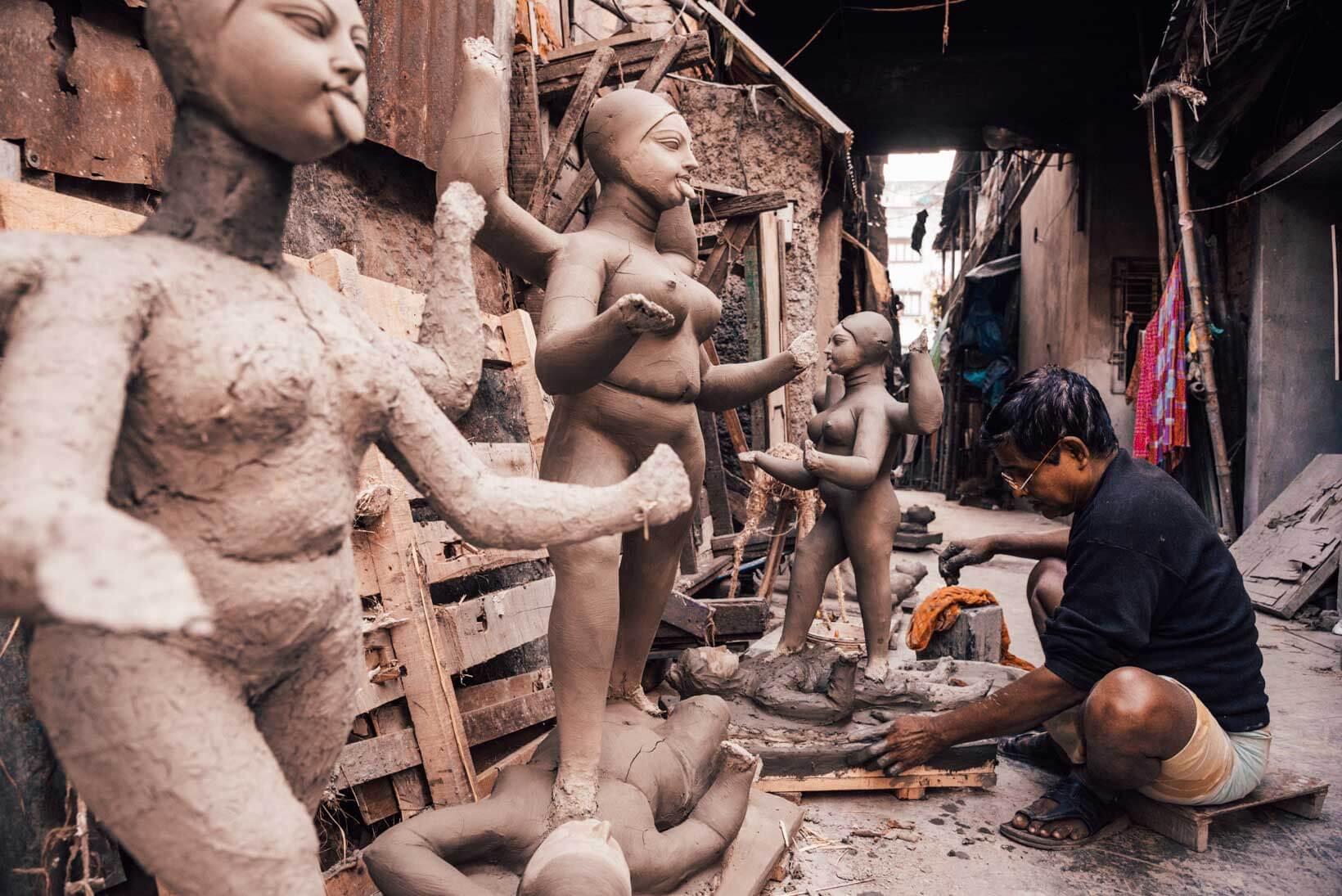 Luoghi di interesse a Calcutta quartiere Kumartuli