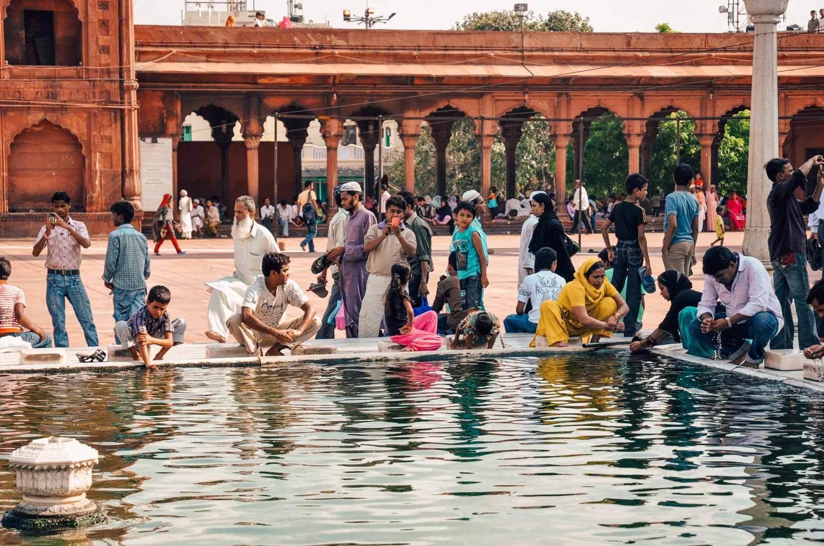 New Delhi Jama Masjid fedeli
