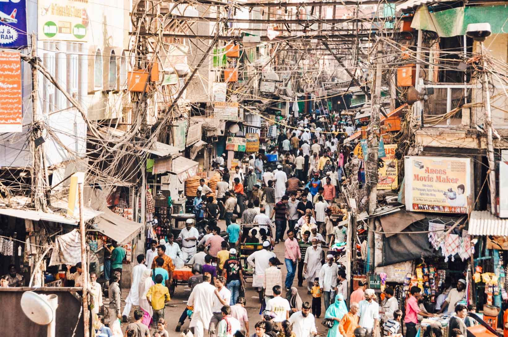 Cosa vedere a New Delhi mercato Chandni Chowk