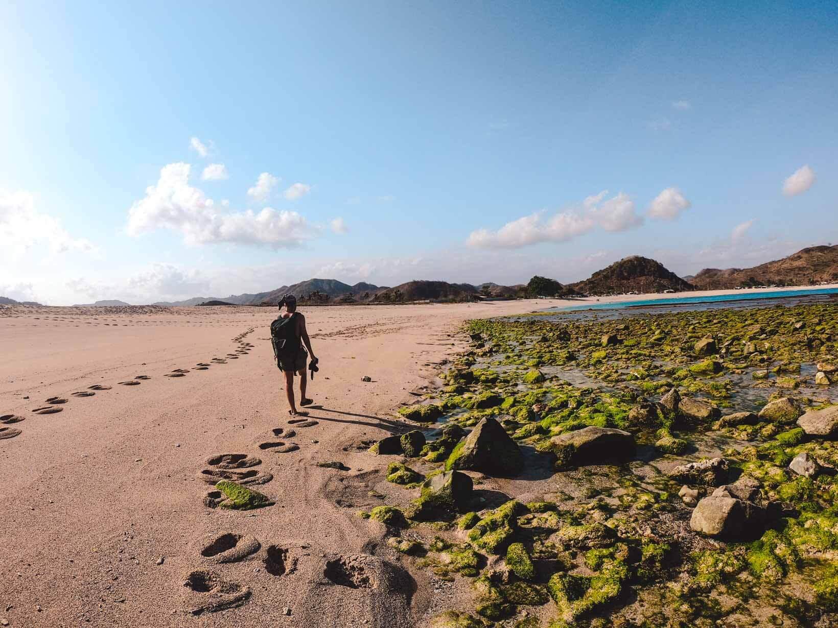 Spiaggia Mawun a Lombok