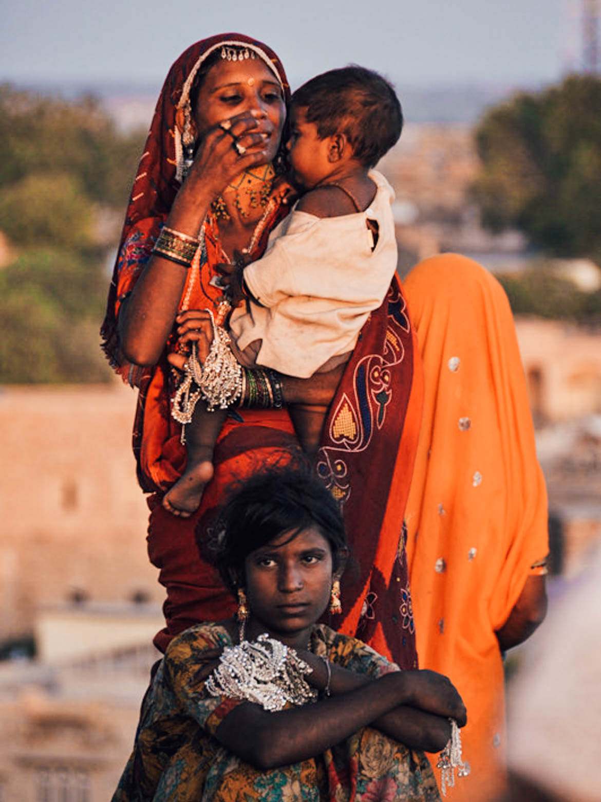 Abitanti di Jaisalmer in Rajasthan