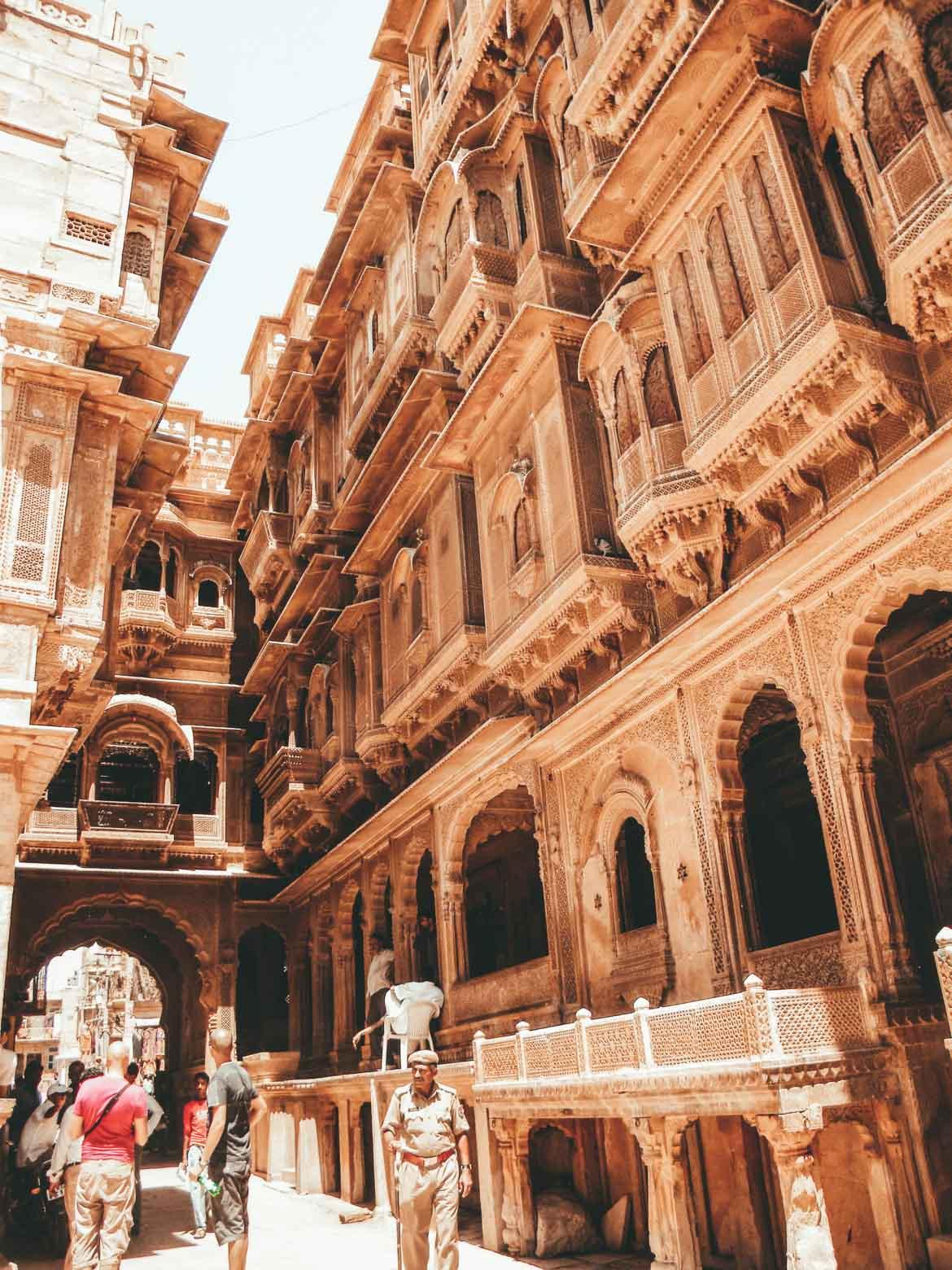 Vicoli di Jaisalmer in Rajasthan