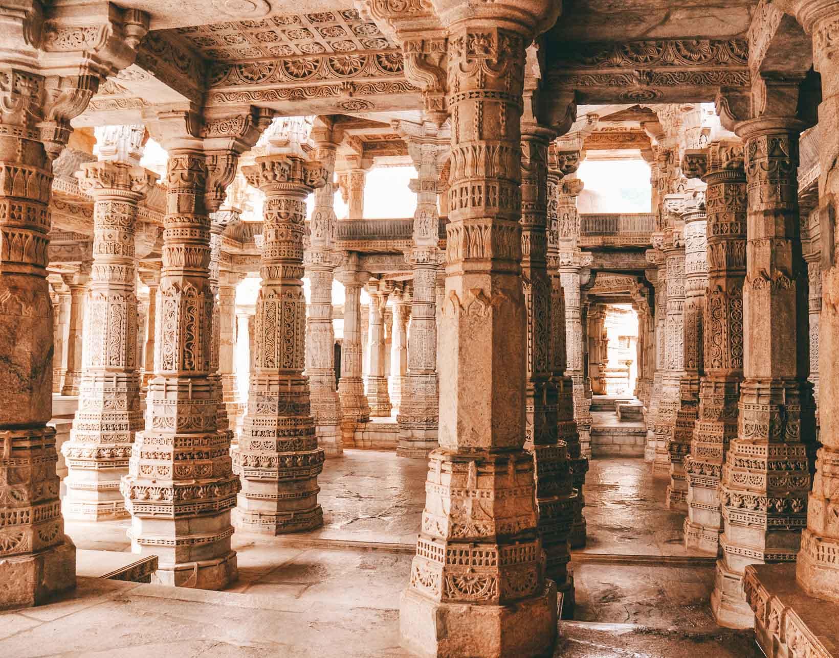 Tempio giainista a Ranakpur in Rajasthan