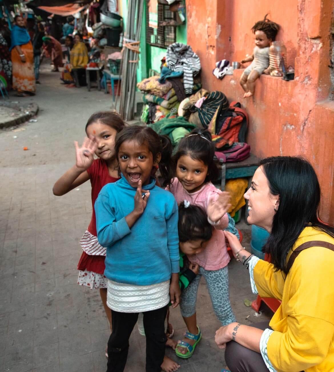 bambini di strada a Calcutta