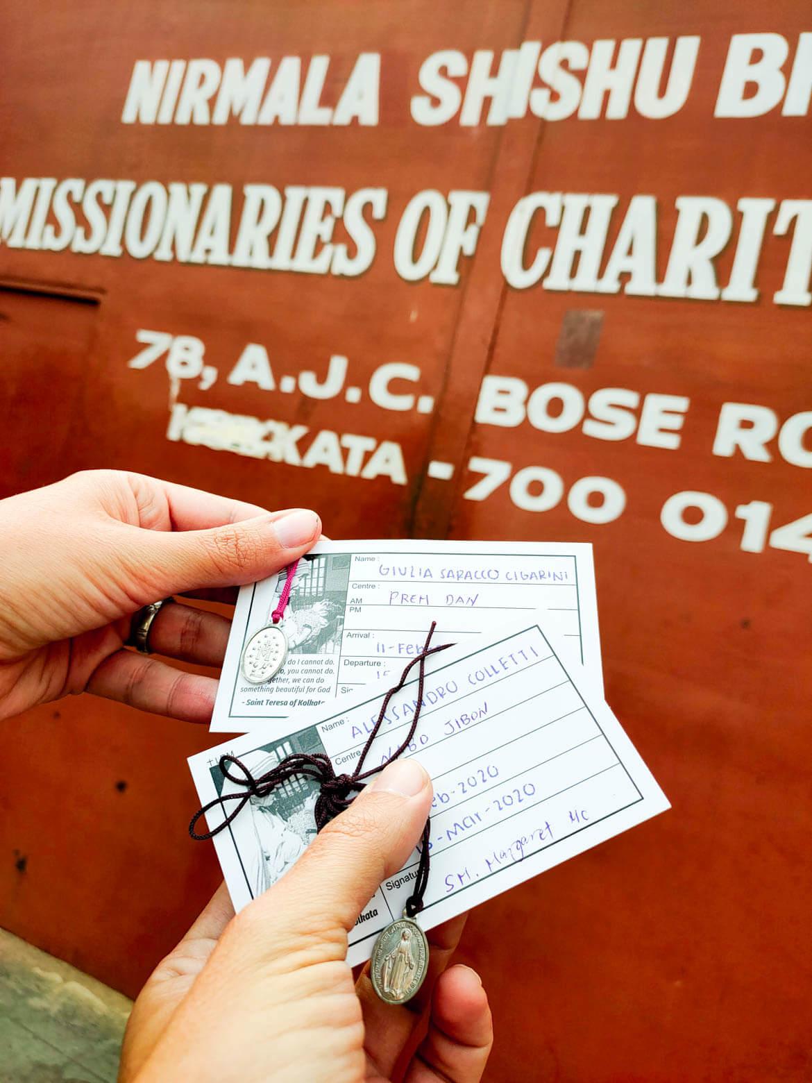 Volontariato Calcutta registrazione