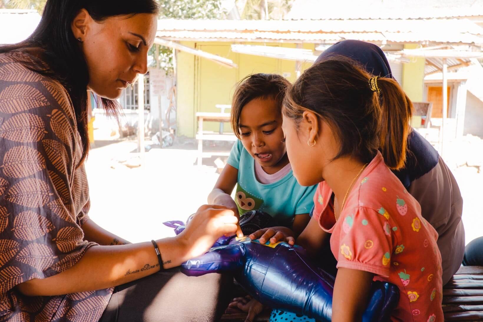 Volontariato isola di Lombok