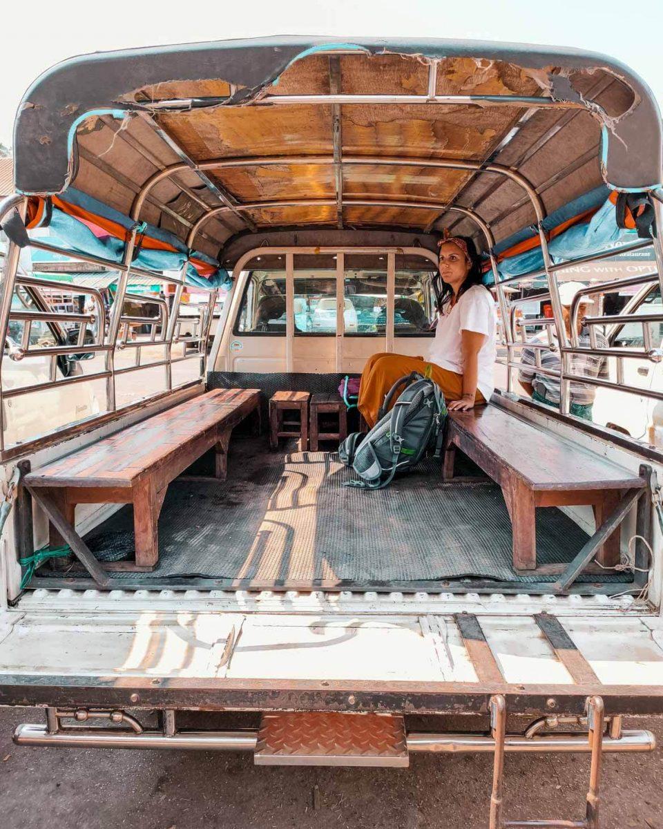 Minibus in Birmania