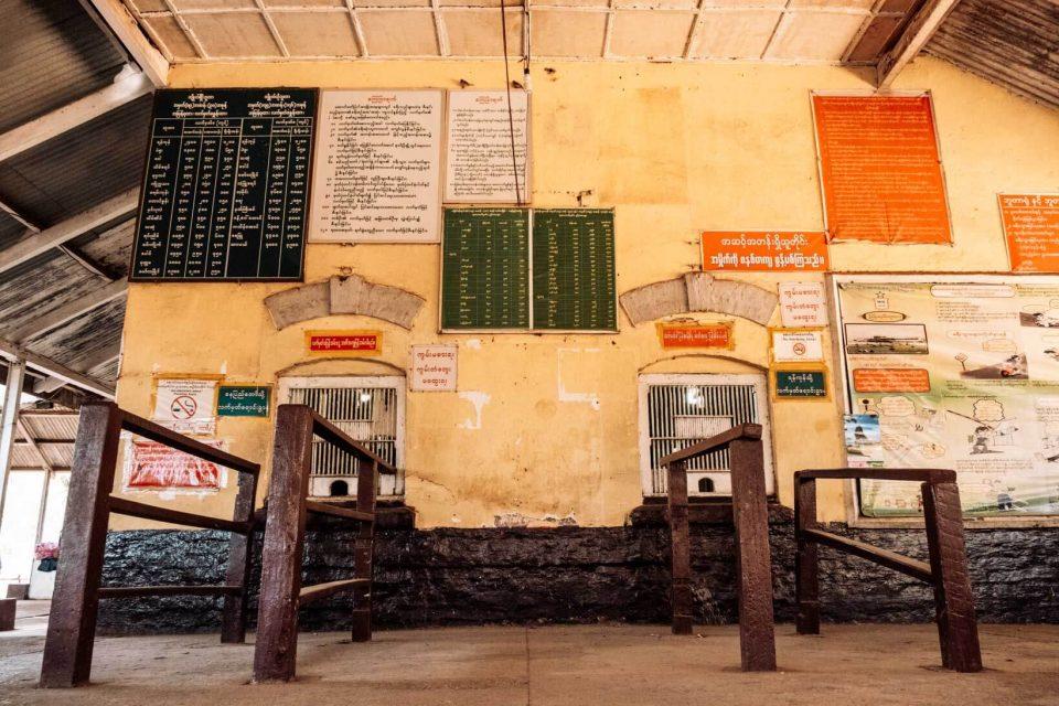 Biglietti del treno in Birmania