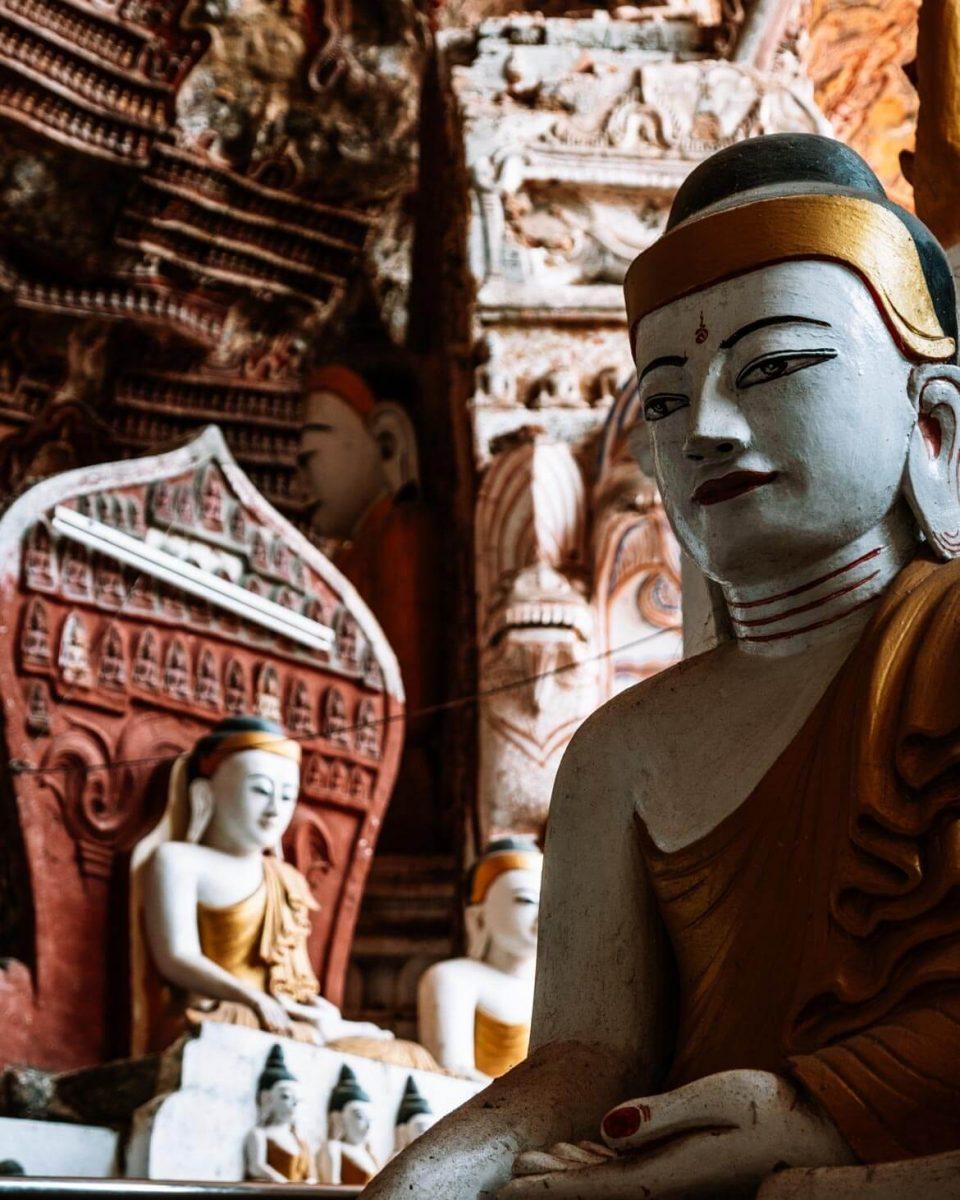 Grotte di Buddha Hpa-An Birmania