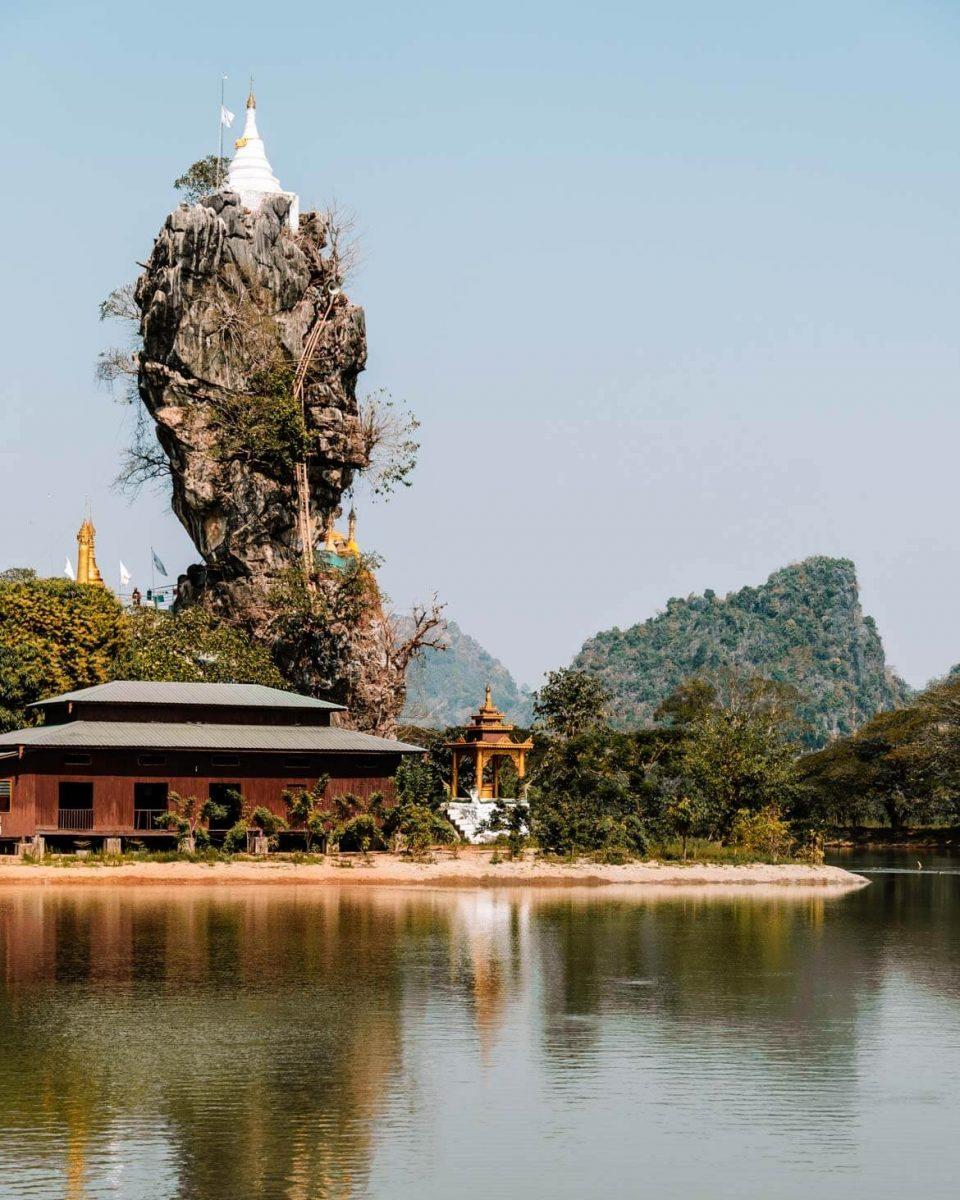 Kyauk Kalap pagoda Hpa-An Birmania