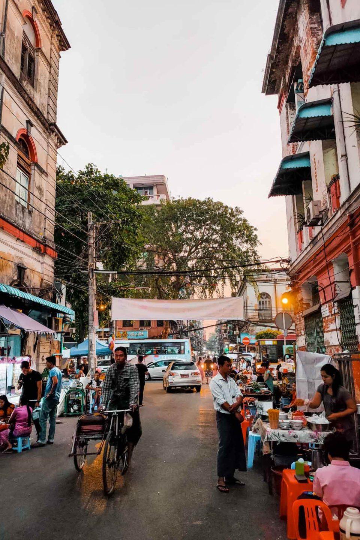Street food a Yangon